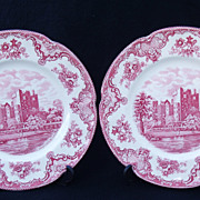 SALE Pair of Johnson Brothers Old Britain Castles Plates