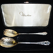 SALE William Adams Sheffield Silver/Gold plated Boxed Serving Set