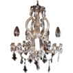 Cut Glass and Crystal 5 Light Chandelier