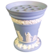 Large Wedgwood Jasperware Trumpet Vase with Flower Frog Insert