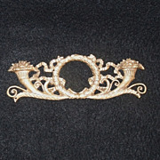 SALE Vintage Brass Wreath Furniture Embellishment Hardware