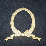 SALE Large Brass Wreath Furniture Embellishment Hardware