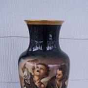 SALE Large Gerold Porcelain Pictorial Urn Vase