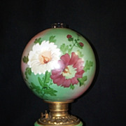 SOLD Electrified Gone With The Wind Hand Painted Oil Lamp