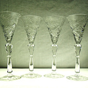 SALE Set of 4 Fine Crystal Cordial Stems