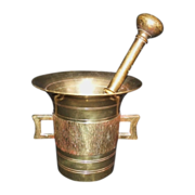 SALE Solid Brass Apothecary Mortar & Pestle
