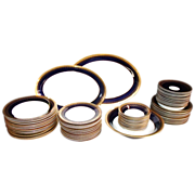SALE 63 Pc. Set Weimar Porcelain Harmonie Cobalt Gilt