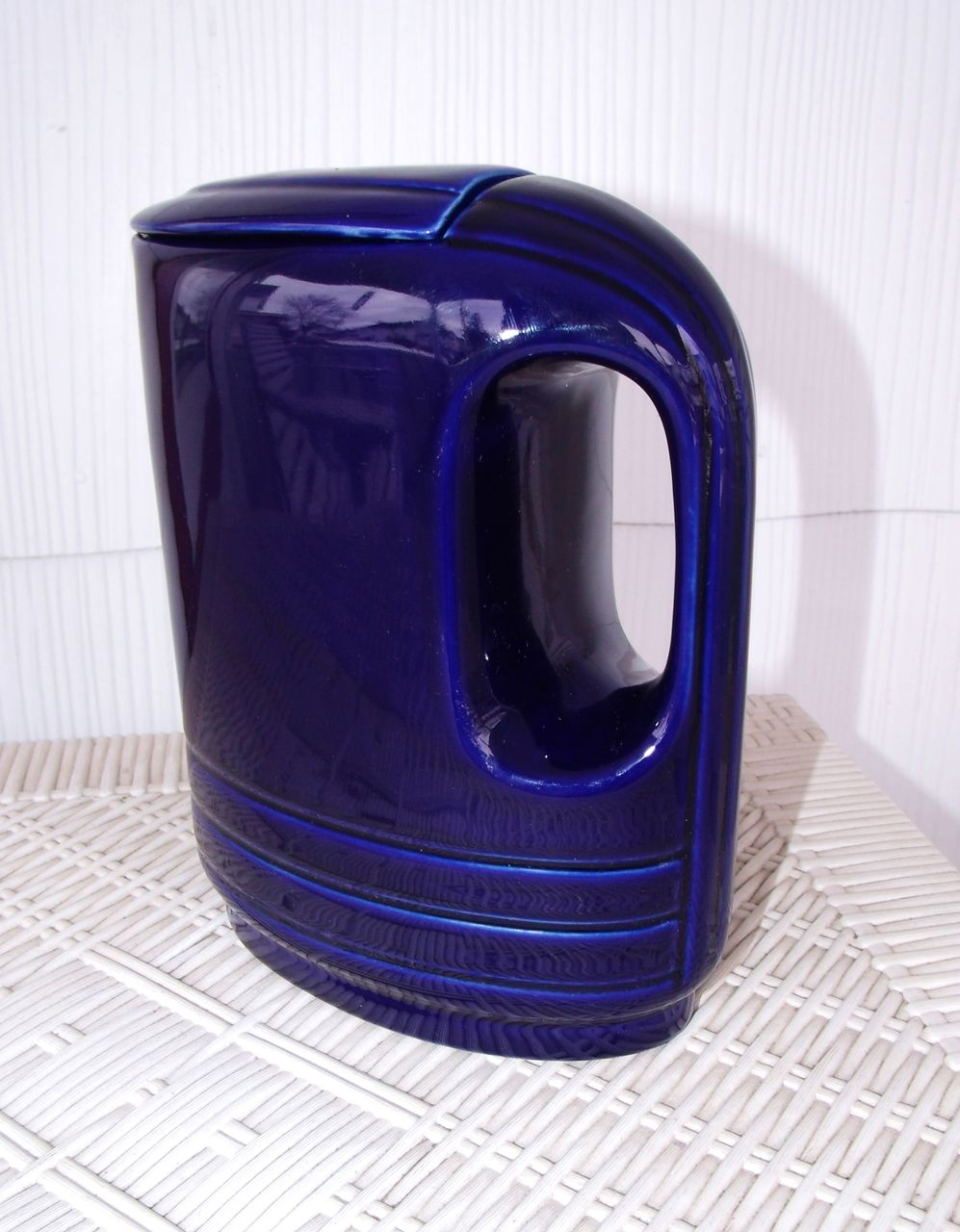 1930's-40's Art Deco Hall for Westinghouse Cobalt Refrigerator Pitcher