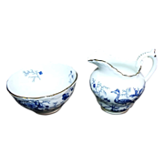 SALE Coalport English Bone China 'Cairo' Mini Creamer and Open Sugar Bowl