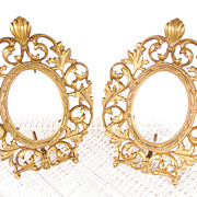 SOLD Matching Cast Brass Victorian Easel Frames