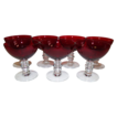 Duncan & Miller Ruby Red Champagne/Tall Sherbet  Set of 7