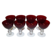 Duncan & Miller  Ruby Red Liquor Cocktail Stems Set of 8