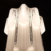 Wonderful Art Deco Skyscraper Glass Fixture