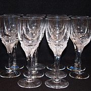 SALE American Cut Crystal 'Erica' Pattern Set of 10 Goblets