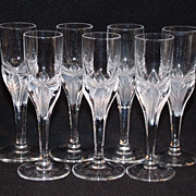 SALE American Cut Crystal 'Erica' Pattern Set of 7 Cordials