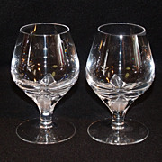 American Cut Crystal 'Erica' Pattern Set of 2 Sherry Stems
