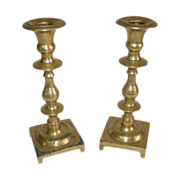 SALE Pair of Solid Heavy Brass Candlesticks