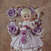 SALE Vintage Spring- Summer Porcelain Girl