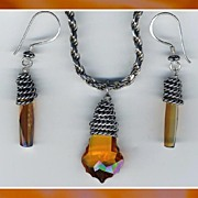 SALE Topaz Swarovski Crystal Set
