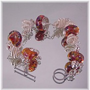 Dangle Artisan Lampwork Bracelet