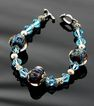Ocean Mist Lampwork Beaded Bracelet