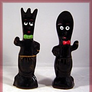 SALE Anthropomorphic Fork & Spoon Salt Pepper Shakers