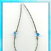 Twisted Sterling with Swarovski Crystal Necklace