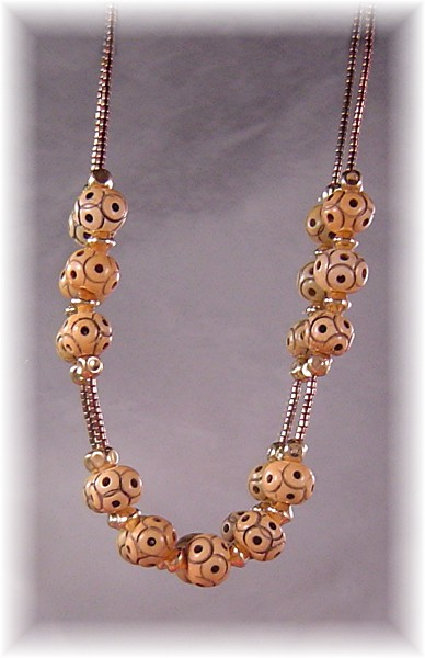 Carved Antler Bead Necklace