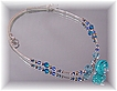 Aqua Boro Glass Bead Necklace