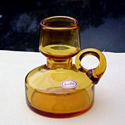 SALE Hand Blown Bottle Neck Pitcher by Rainbow Glass ca 1960's