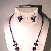 Dazzling Black Grape Crystal Set