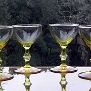 SALE Gold to Amber Liquor Cocktail Glasses