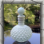 Fenton French Opalescent Hobnail Cologne Bottle