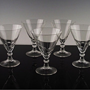Chic Fine Cut Martini Glasses