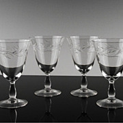 Cambridge Lynbrook Wine Glasses ca 1955-58