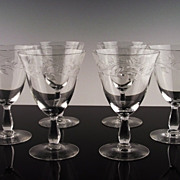 Cambridge Lynbrook Water/Large Wine Glasses ca 1955-58