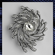 Extraordinary Peacock Rhinestone Brooch
