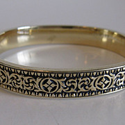 Beautiful Vintage Taille d' Epergne Enamel Bracelet