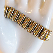 Antique Edwardian Expansion Embossed 10K GF Bracelet