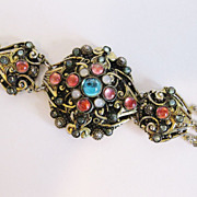 Beautiful Vintage 1930's Cabochon Bracelet