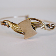 Lovely Vintage Edwardian 10K Gold Fill Signet Bracelet