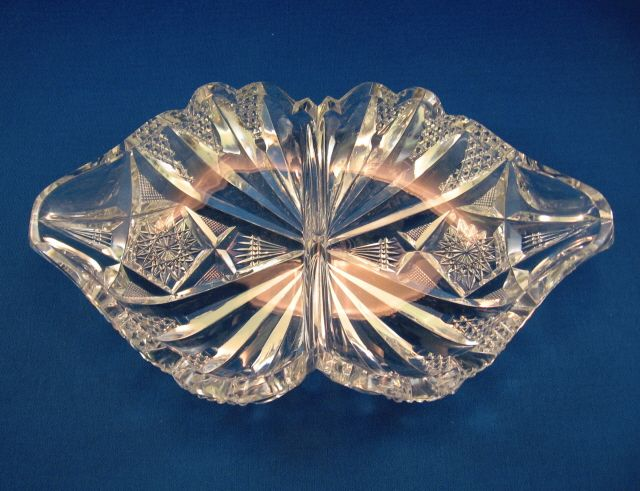 Libbey Cut Glass Divided Dish