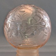 SALE Czech Cut Glass Pink Perfume Lamp