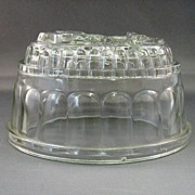 SALE Glass Gelatin Mold Embossed With Anchor