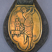 SALE 1920's Lady Golfer Watch Fob