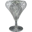 American Brilliant Cut Glass Tazza Vase
