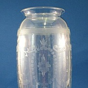 SALE Hawkes Cut Glass Vase