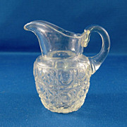 SALE Harvard Pattern Cut Glass Pitcher Salesman Sample