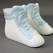 SALE German Porcelain Baby Shoes