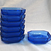 SALE 7 Hoffman Czech Salt or Nut Blue Dishes